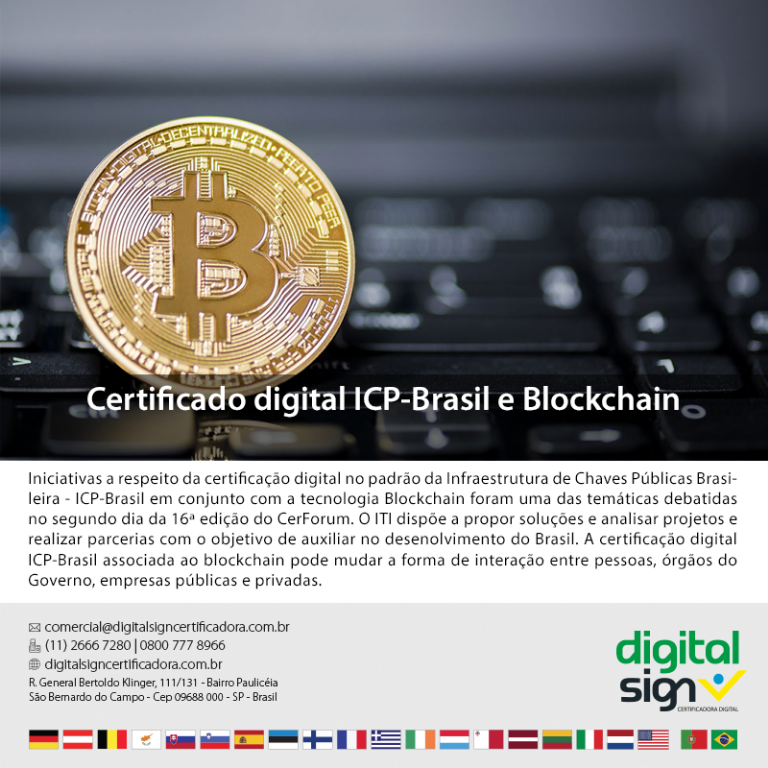 Certificado digital ICP-Brasil e Blockchain
